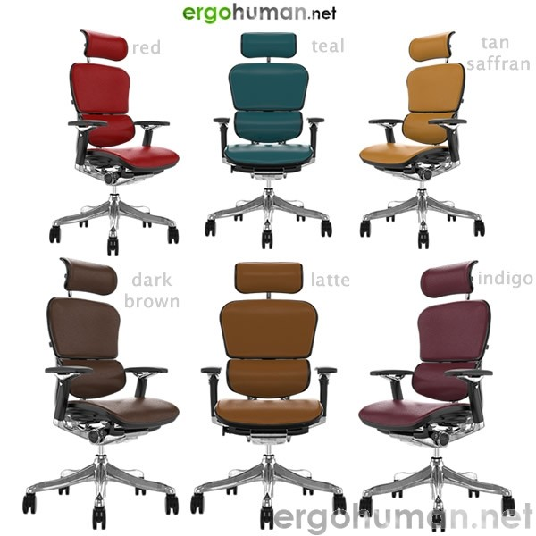 Ergohuman Plus Leather Office Chairs - Colours